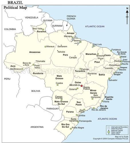 mapa do brasil. Mapa dos Estados do Brasil