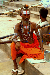 people - a sadhu (utpal.) Tags: life blue people bw india color green colors yellow clouds portraits canon landscape happy flickr child indian vivid assam picnik waterscape chandana utpal utpalnath