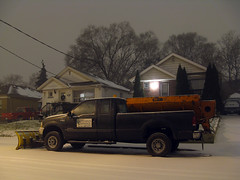 Ford F-350 Snow Plow (Diego3336) Tags: winter snow toronto ontario canada cold ford weather season lowlight nightshot midnight flurries plow removal snowplow f350 superduty fseries