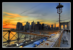 Brooklyn Bridge Sunset (James Neeley) Tags: nyc newyorkcity sunset ny newyork brooklynbridge hdr thebigapple 5xp mywinners superaplus aplusphoto jamesneeley
