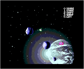 Meteor Blaster DX Play Screen