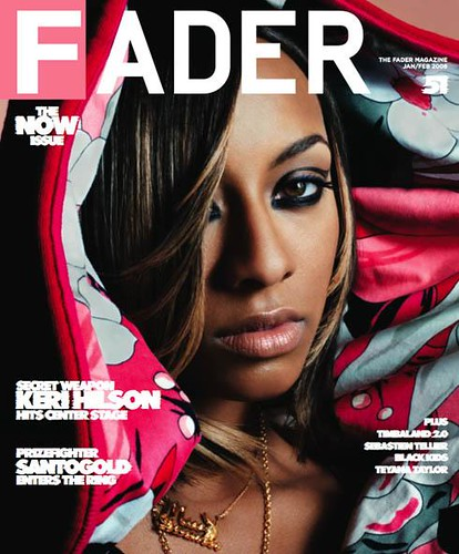 keri hilson on the cover of fader magazine