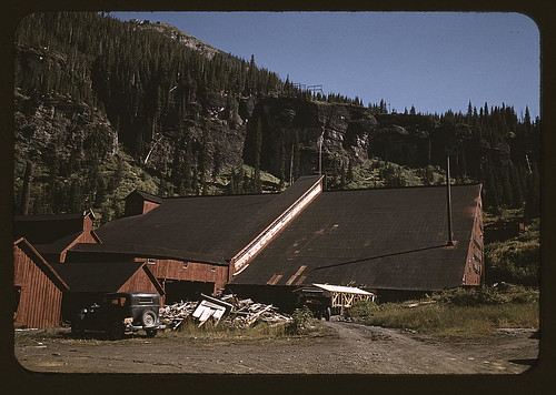 Detail of the mill at the Camp Bird Mine, Ouray County, Colorado (LOC)