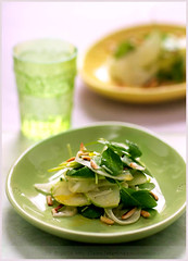 A Salad For the Boston Globe (La tartine gourmande) Tags: salad shaved fresh almonds appetizer fennel parmesan arugula latartinegourmande