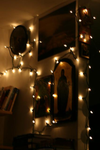 night christmaslights livingroom winterlights