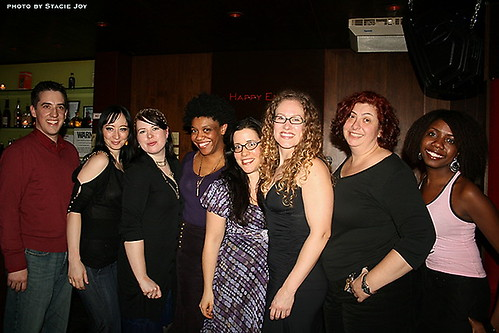 Group shot from Blogger Sex Night at In The Flesh January 17, 2008