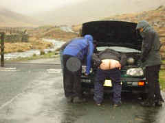 Car's borken, a*se