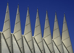 Spires (iceman9294) Tags: colorado chapel coloradosprings usafa skidmore chriscoleman airforceacademy d300 unitedstatesairforceacademy mywinners usafachapel owingsandmerrill iceman9294 nikond300 unitedstatesairforceacademychapel
