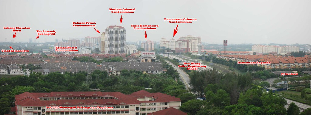 Panaroma view of Petaling Jaya