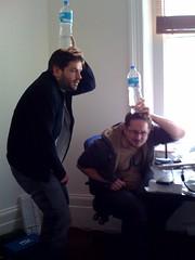 Matt and Matt, hiding (Tom Insam (old)) Tags: exif:missing=true dopplrhq