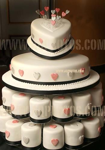 PINK AND CREAM HMS TRINCOMALEE WEDDING INDIVIDUAL WEDDING CAKES