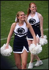 Cheerleaders at the Blue White Game (rickz) Tags: game cute sports girl smile dance football student pretty dancing dancer pennstate bigten cheerleader lovely cheerleading 2008 bluewhite beaverstadium nittanylion psu blueandwhite nittanylions collegefootball big10 pennsylvaniastateuniversity bluewhitegame