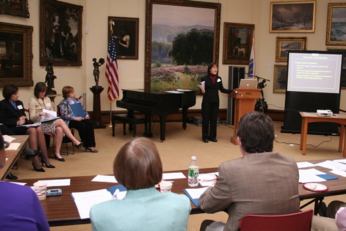 Diane Schilder, project evaluator gives an overview of grant activities
