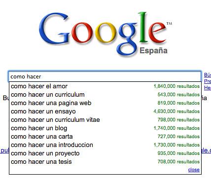 Recopilación de todas las preguntas planteadas por Google Suggest