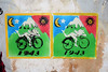 Hoffman buvards/blotters :-) (SpUtNik 23 -RUR und MKZ) Tags: art bicycle stencil day acid albert lsd hoffman pochoir blotter lysergic acide buvard