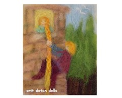 -    RAMPUZEL-needle felt wool painting (orit dotan) Tags: art wool fairytale painting children education doll waldorf picture handpainted handwork steiner needlefelt     naturalkids       nadelfilzen   oritdotandolls
