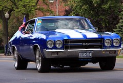 Pure American Muscle (Chase Images) Tags: blue parade mags musclecar 454 4onthefloor supershot mywinners 1970chevelless glensfallsny chaseimages