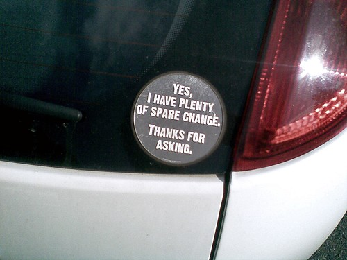funny car stickers. funny bumper sticker