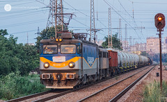 On a Summer Evening in Burgas (cossie*bossie) Tags: bzk brc bulgarian railway company railways freight cargo train 40 0367 400367 le5100 060ea electroputere rolling stock tanker tanks burgas bulgaria