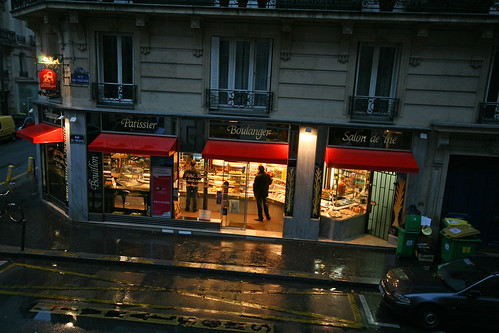 early morning boulangerie