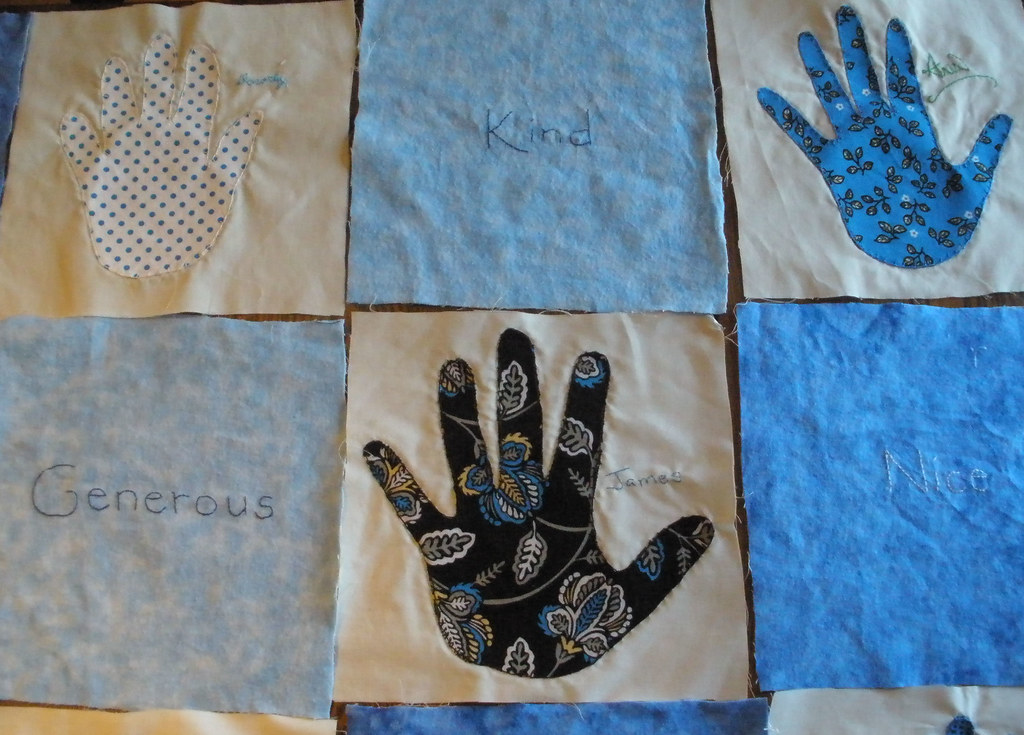 The world s best photos of handprint and quilt flickr hive mind
