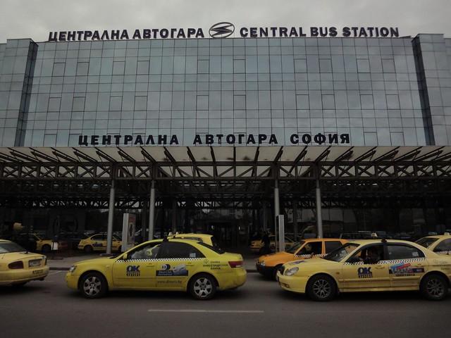 Fachada da Estação de camionetas em Sofia