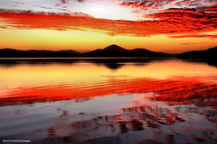 Wallis Lake Sunset from Sunset Point Pacific Palms, NSW, Austr