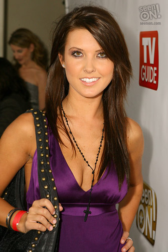 Audrina Patridge with long layered hair curled Hairstyle