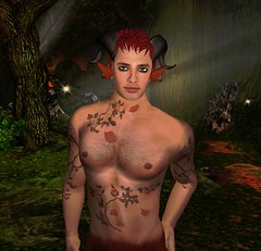 me as a faun (Lano Ling) Tags: tattoo night secondlife faun straylight