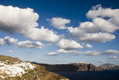 Blue Santorini Skies (Carlo_it) Tags: sunset sea sky color clouds island santorini greece ia carlo oia cyclades thira arioli