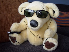 Ted E Bare listens to Led Zep (missysplace_1999) Tags: ted out pie funny time bare e custard