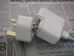 The broken power adapter