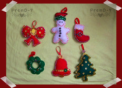 Al fin listos =P  (PrenD-T) Tags: christmas natal arbol navidad felt feltro adornos fieltro