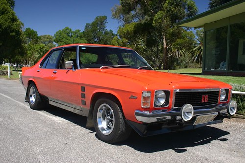 The flashy Holden Monaro V8 (1974)