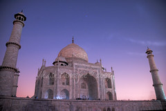 THE MOONLIT TAJ (A rare sight!)