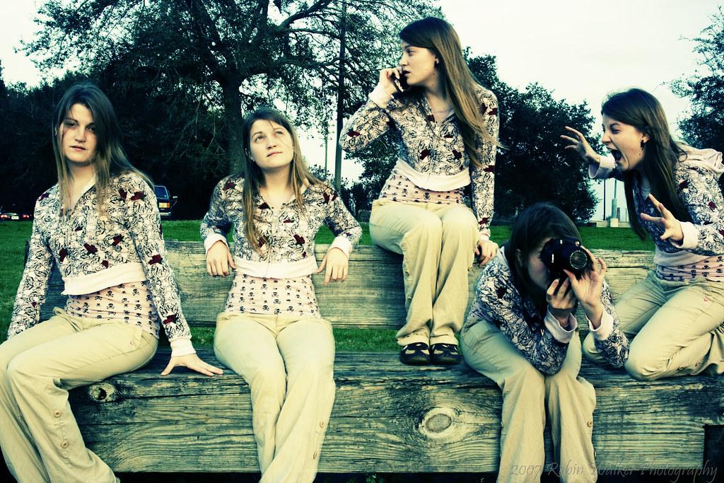 sittin on a park bench
