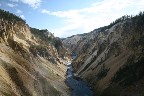 Canyon Below Lower Yellowstone Falls