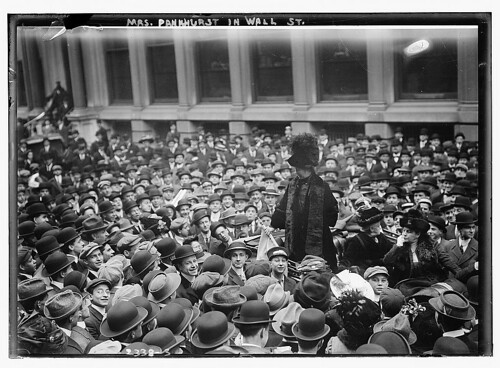 Mrs. Pankhurst in Wall St. (LOC)