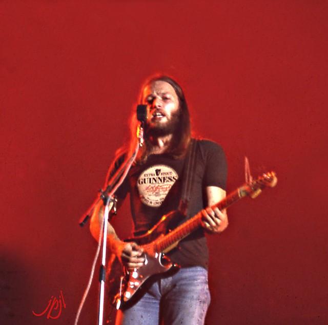 David Gilmour- Pink Floyd (1t). Toulouse fut l'une des trois étapes