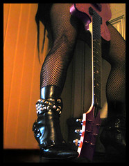 Spite (blonde_sage) Tags: boots guitar 80s studs fishnetstockings daisyrock futab