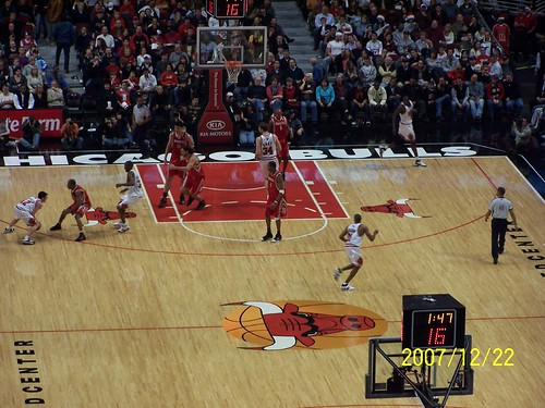 We saw Yao Ming play at United Center