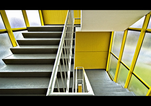 Yellow. Stairs. (2)