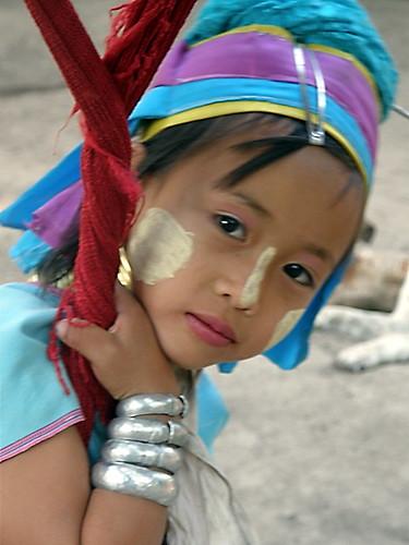 "Padong ""Long necked"" tribe member near Chiang Mai"