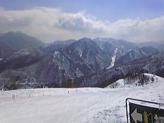 苗場スキー場からの景色