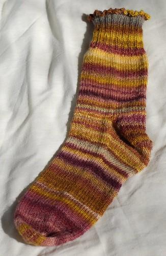 Handspun sock