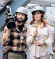 Richard (Douglas) and Kimberly (Fonda) at Ventana Nuclear Power Plant
