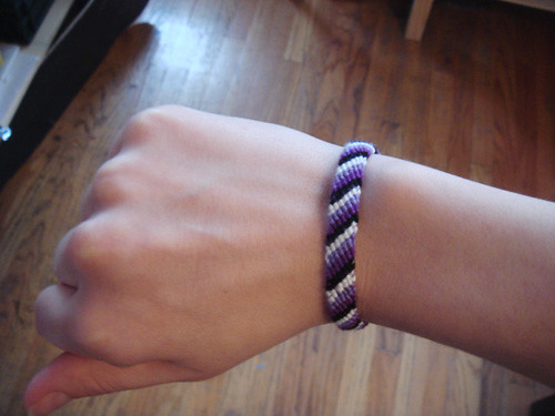 I went to K-Mart on Saturday and bought a friendship bracelet kit,