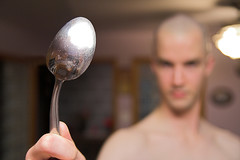 There is no spoon... (ThenAndAgain) Tags: matrix photoshop army military bald parody shaven mathew recruit thereisnospoon