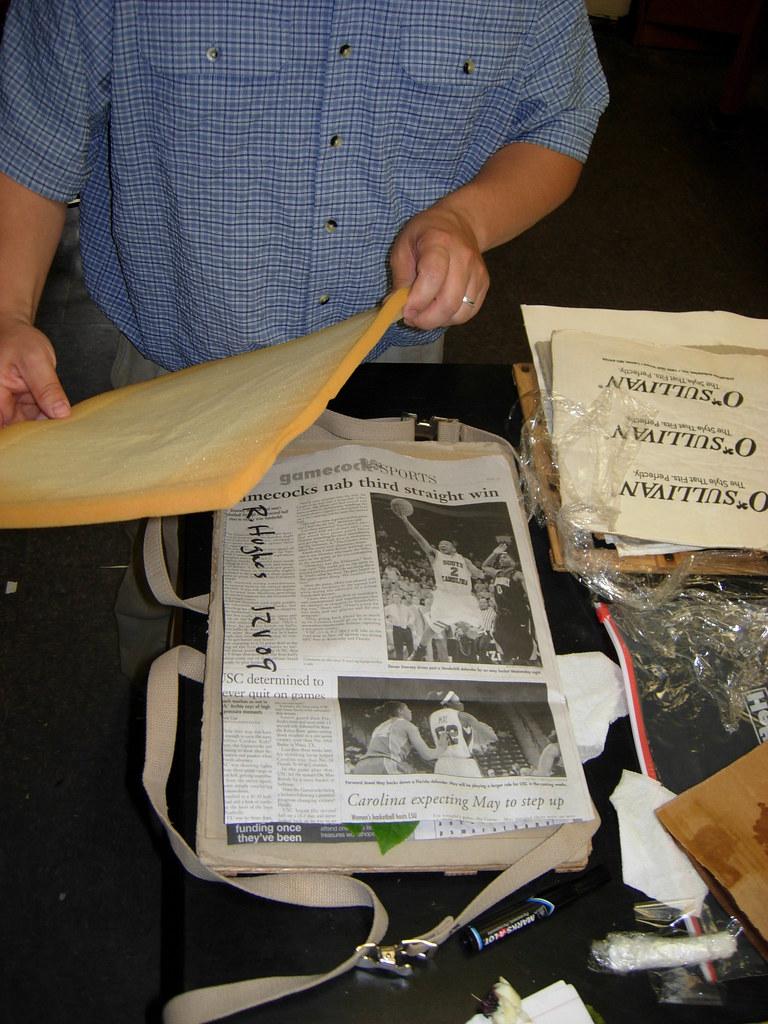 pressing a plant specimen III