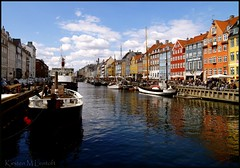 Nyhavn - again again (Kirsten M Lentoft) Tags: sky water clouds copenhagen denmark boats nyhavn canal colours harbour ships chapeau bej anawesomeshot kirstenmlentoft